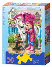 Puzzle konturowe Rainy Day with Friends 30,