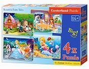 Puzzle 4w1 Beautiful Fairy Tales 8-12-15-20,